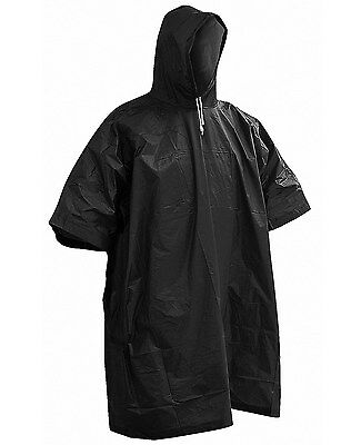 New Vinyl Rain Coat Hooded Poncho Waterproof Festival Camping Hiking Cape