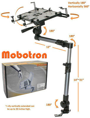 """Mobotron Heavy-Duty Vehicle Laptop Mount, Hold 10""""-17"""" Laptop, Tablet (MS-526)"""
