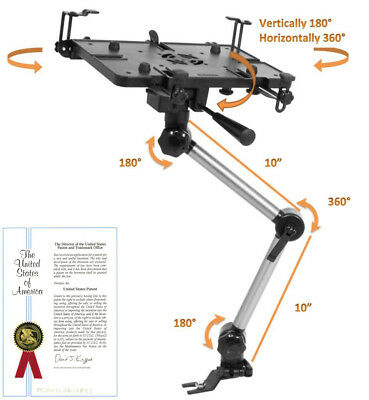 "Mobotron Vehicle Laptop Mount, 10""-17"" Laptop/Tablet, SUVs, Trucks, Sedans"