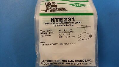 (1 PC) NTE231, ECG231, GE-704, SK3857, Silicon Controlled Rectifier (SCR)