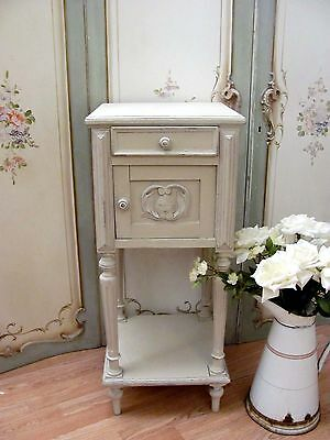 Charming Antique French Painted Oak Pot Cupboard - C1900