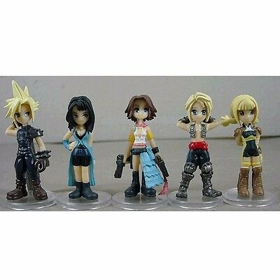 5pcs Final Fantasy Trading Arts Mini Cloud Rinoa Yuna Vaan Penelo PVC Figure NB
