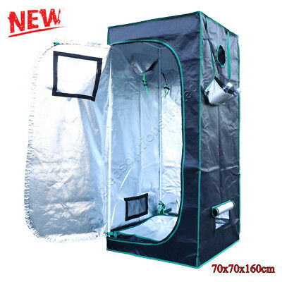 New 70×70×160 cm Hydroponics Indoor Grow Tent  Kit Bud Dark Green Room Box 1680D