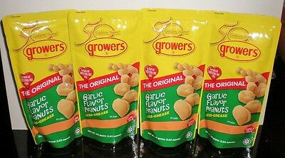 New GROWERS Garlic Flavor Peanuts 4 Pack 80gX4 Original Less Grease Philippines