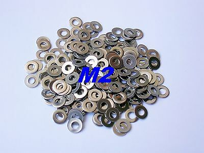 100pcs M2 or 2MM Metric Stainless Steel Flat Washer Provide Free Tracking Number