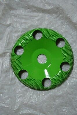"Saburr-Tooth 4"" DONUT WHEELS (Round Face) W/Holes DW490H 5/8 Bore Green Coarse"