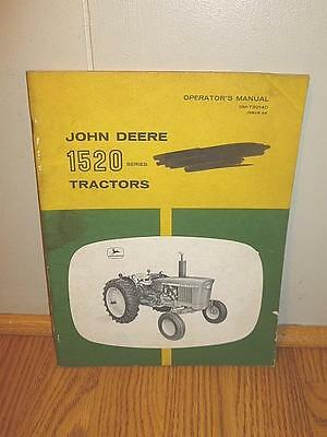 Original John Deere 1520 Series Operator's Manual OM-T30140 Issue G8-BL