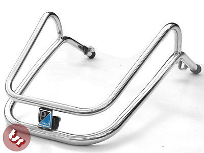 VESPA PX/LML/T5 Mudguard/Fender Stainless Steel Crash Bar+Badge