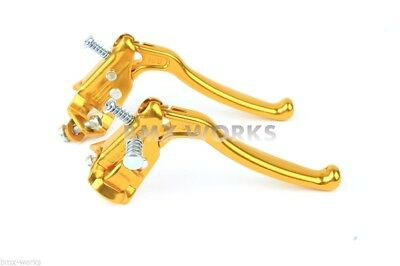 Dia-Compe MX128 - Tech 6 Gold Brake Levers - Old Vintage School BMX Style Brakes