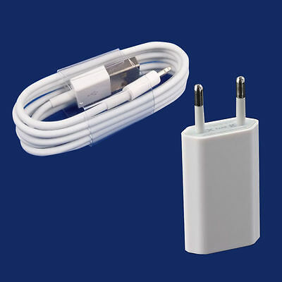 New EU European Wall Charger with 8 Pin to USB Data Cable for iPhone 5 5C 5S 6