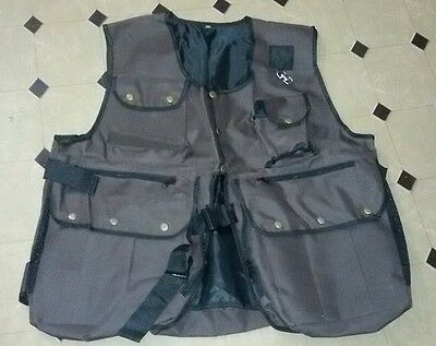 New Falconry and Hunting Waistcoat, Vest Brown, (All Sizes) Fully Adjust