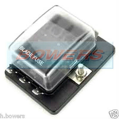 12V/24V 1 Power In 6 Way Blade Fusebox Fuse Box Holder With Led Failure Light