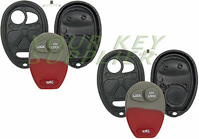 2 New Replacement Keyless Entry Remote Key Fob Shell Case 3 Button Pad L2C0007T