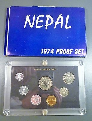 Nepal 1974 Proof Set Includes Outer Box