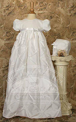 NWT Girls Christening Gown  PT44GS Bubble Style  Baptism 75% Off CLOSEOUT SALE