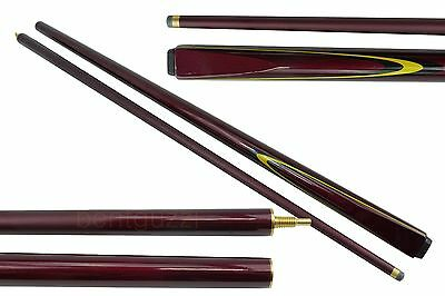 "SALE CUEMASTER A SERIES MAPLE  Pool CUE 2-pce Burgundy 57"" - Snooker Billiard"