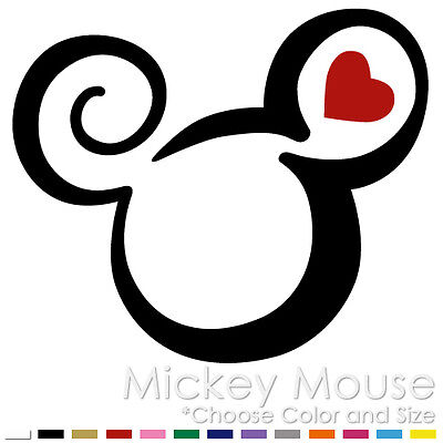 Tribal Mickey Minnie Mouse Two Color Tattoo Disney Vinyl Decal Sticker (Mm-09)