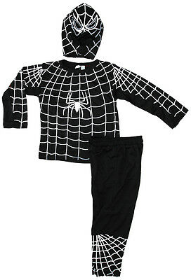 NEW Sz 2~10 KIDS COSTUME SPIDERMAN BLACK OUTFIT BOYS DRESS UP PARTY CHILDREN TOY