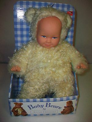 "1997 Anne Geddes Baby Bears doll 13"" tall"