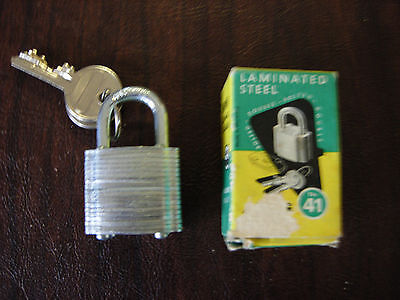 "Abus Padlock Laminated Steel No. 41 - 1 1/4"" Nib Double Bolted Lamina Cyclinder"