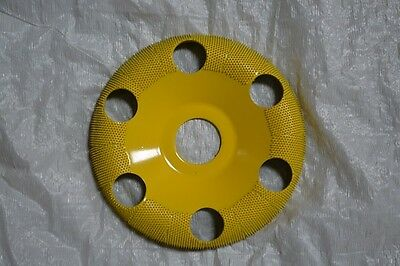 "Saburr-Tooth 4"" DONUT WHEELS (Round Face) W/Holes DW450H 7/8 Bore Yellow Fine"
