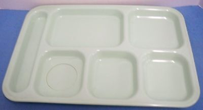 Dallas Ware Green Cafeteria Tray 6-Part USA No Cracks or Stains Texas 16 Avail