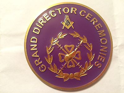 Auto Emblem - Masonic Grand Lodge - Grand Director Ceremonies
