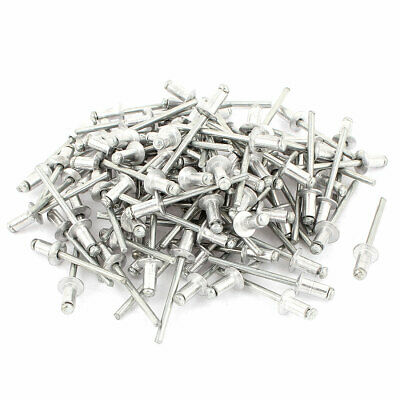 100 Pcs 3.5mm x 8mm Large Flange Dome Head Aluminium Blind Pop Rivets