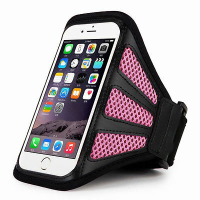 """iPhone 6 4.7"""" Pink Mesh Running, Jogging, Cycling Armband Mobile Phone Cover"""