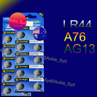 20 x LR44 Battery AG13 A76 Alkaline Batteries 1.5V Fast Post from Sydney