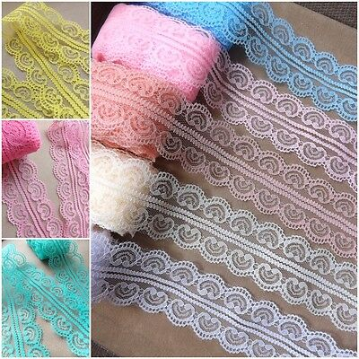 VINTAGE white LACE RIBBON TRIM 45mm WIDE BRIDAL CRAFTS sewing  * 12 colours  *