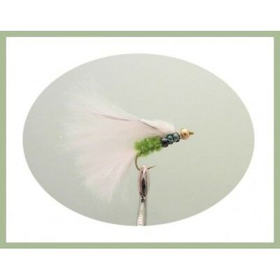 Cats Whisker Trout Flies, 6 Per Pack, Rainbow Beaded - Size 10 - Fly Fishing