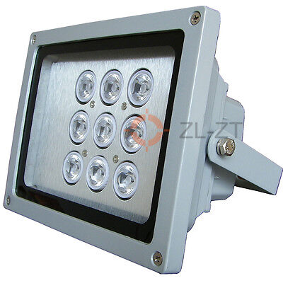 12W WaterProof LED(9pcs Chips) InfraRed Illuminator for Security CCTV Lighting