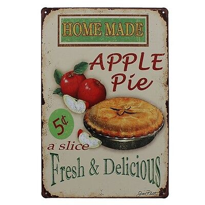 Apple Pie Tin Sign Vintage Metal Plaque Bar Pub Home Wall Decor