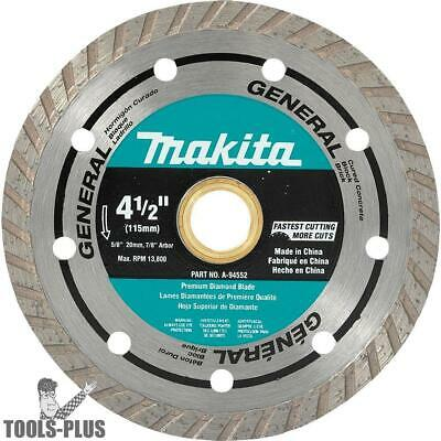 "4-1/2"" Turbo Rim Diamond Masonry Blade Makita A-94552 New"