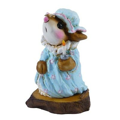 NIGHTIE MOUSE by Wee Forest Folk, WFF# M-14s, Forget-Me-Nots Series, BLUE