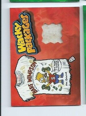 2015 Wacky Packages wardrobe card Barf Wimpson