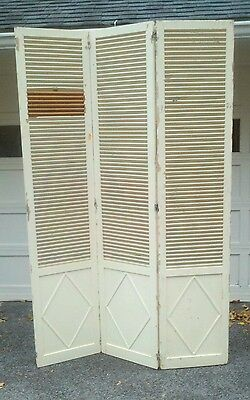 "Antique Architectual Salvage Interior Shutters 54"" x 84"" - Lot #1"