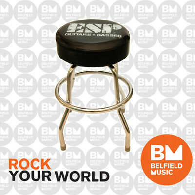 ESP Guitar Stool with ESP Logo Padded Swivel 60cm Height Seat - BNIB - BM