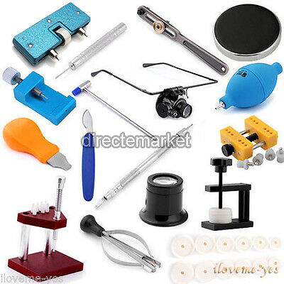 Watch Band Link Pin Remover Case Cover Opener Holder Watchmaker Repair Kit Tools