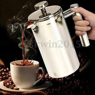 350ml Filter Double Wall Stainless Steel Coffee Plunger French Press Tea Maker