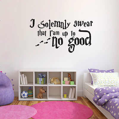 Harry Potter Quote bedroom wall sticker - I solemnly swear