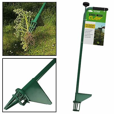 AMOS Steel Weed Puller Claw Lawn Weeder Root Remover Killer Grabber Garden Tool
