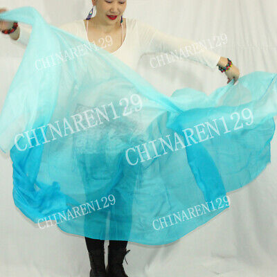 sale sale BELLY DANCE 100/% SILK VEILS 1.14M*2.7M RED YELLOW carry bag  599