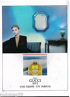 Publicité Advertising 1988 Parfum Gucci N°3