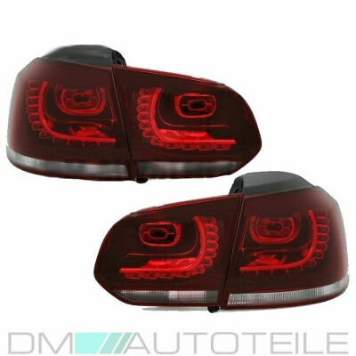 VW Golf 6 VI LED Rückleuchten Heckleuchten Set Rot Weiß GTI R Look Komplett LED