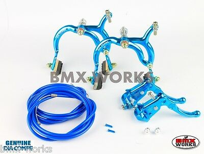 Dia-Compe Bright Blue MX890 with MX121 (Tech 3) Levers Package Old School BMX
