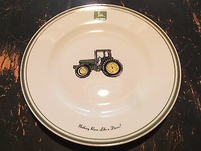 3 Piece Set Gibson JOHN  DEERE Tableware Dinner/Salad Plates Cereal/Soup Bowls