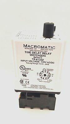 MACROMATIC  Timer Delay Relay Series C TR-61322 with Socket