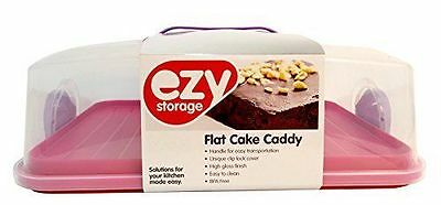 Ezy Storage In My Home Flat Cake Caddy  Blue/Purple/Pink/Grey